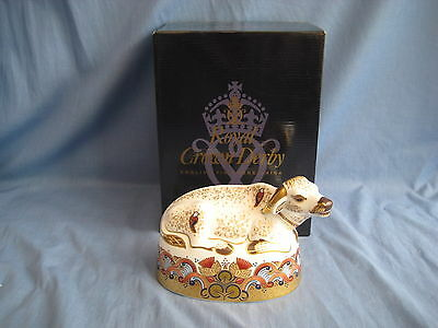 Royal Crown Derby WATER BUFFALO Paperweight - 1st QUALITY - BOXED - PERFECT