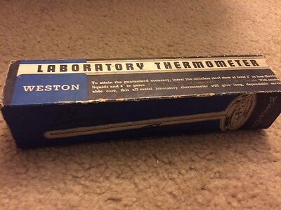 Vintage WESTON Laboratory Thermometer Celsius Great condition