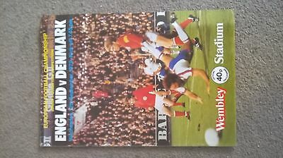 England v Denmark European championship. 1979 at Wembley.