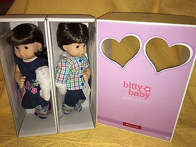 New In Box Bitty Twins Brown Hair Girl Boy Sold Out Brunette American Girl Set