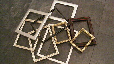 9 x old  assorted wooden skeleton frames