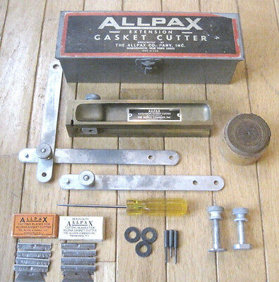 Vintage ALLPAX EXTENSION GASKET CUTTER KIT WITH METAL CASE