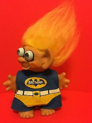 "Vintage 1960's Batman With Rare Bulging Eyes 5.5"" Wishnik/Uneeda Troll Doll"