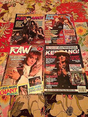 Dogs D'amour Magazine Collection, Kerrang, Raw, Metal Hammer, Tyla