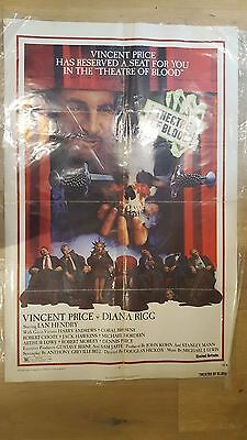 Theatre of Blood Original One Sheet Film Poster 1973