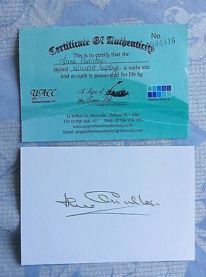 Jack Charlton hand signed card with UACC certification