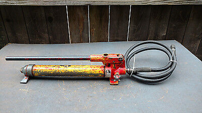 Enerpac P-39 Hydraulic Hand Pump With Hose 10,000 Psi