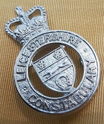 Leicestershire constabulary police cap badge original vintage