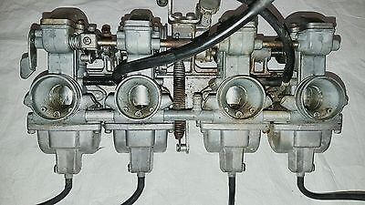 Kawasaki Kz550 - Z500 Carburatore Completo - Carb Set  - Complete Off All Pieces
