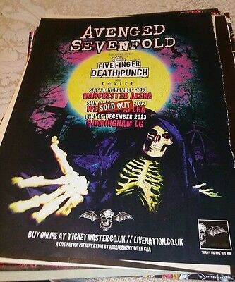 Avenged Sevenfold M Shadows Zacky Vengeance Synyster Gates tour poster