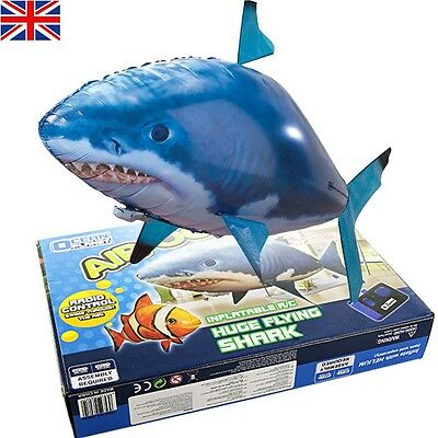 Air Swimmer Large Flying Shark Radio Remote Controlled Inflatable Fish RC Gift