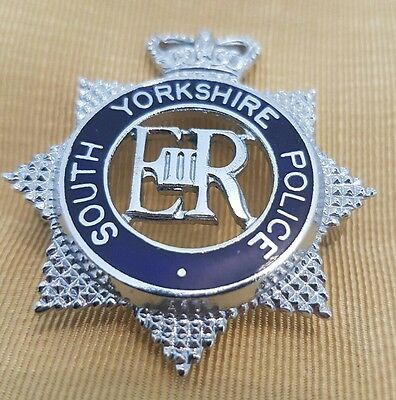 South Yorkshire constabulary police cap badge original vintage