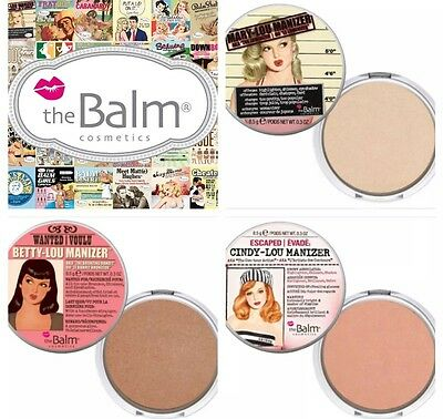 The Balm Mary Lou, Betty, Cindy Manizer Highlighter Face&eyes Shadow,shimmer Uk