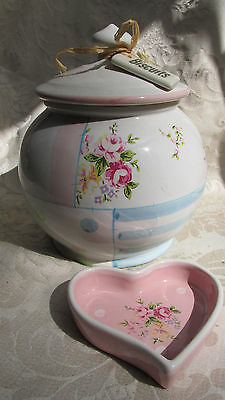 Robert Gordon Canister / Biscuit Barrel 20CmT & Pin Dish Liberty Style