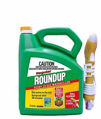 NEW Roundup 5L Regular Pull N'Spray Ready To Use Weedkiller