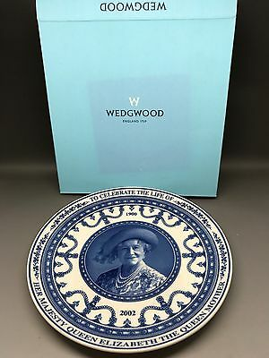 Wedgwood Commemorative Plate - Queen Mother - Boxed