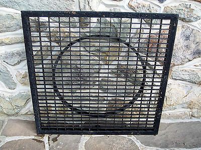 Large Vintage Cast Iron Architectural Heat Floor Grate Register Return