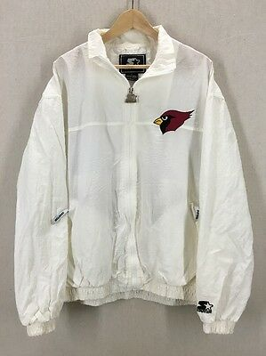 8646a914c Vintage Arizona Cardinals White Embroidered Logo NFL Starter Jacket Sz XL