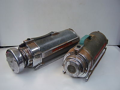 A pair of ELECTROLUX model 30  vintage rail sled bullet vacumes for parts AS IS