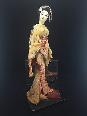 Stunning  Rare Antique Early 20th Century Japanese Geisha Doll 15""