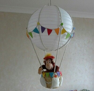 Little Circus in Hot Air Balloon light lamp  shade    Made To Order