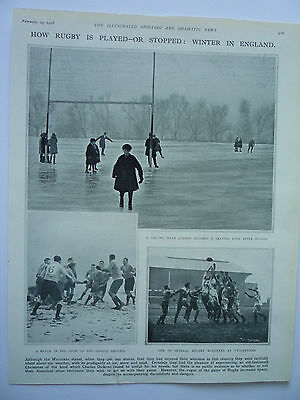 """"""" How Rugby Is Played Or Stopped: Winter In England."""" 1928. Rare."""