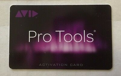Avid Pro Tools 10 , 11, or 12  Teacher Academic Edition Activation Card