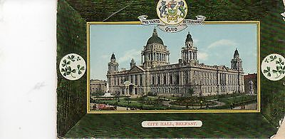 Postcard  Belfast City Hall posted  1910 Avenue series Belfast