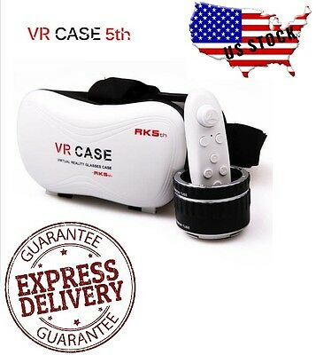 VR Case Virtual Reality Headset 3D Glasses With Remote for Android iOS Phones