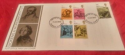 Post Office First Day Cover - Dickens & Wordsworth 1970