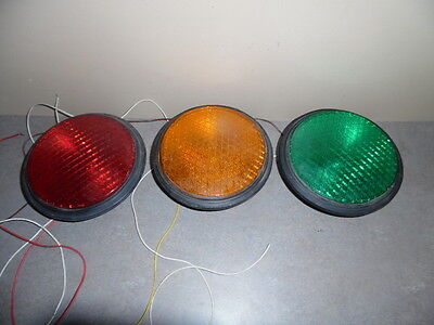 3 Dialight Traffic Signal Lights 8'' LED Red Yellow  Green  All Plug ins!!