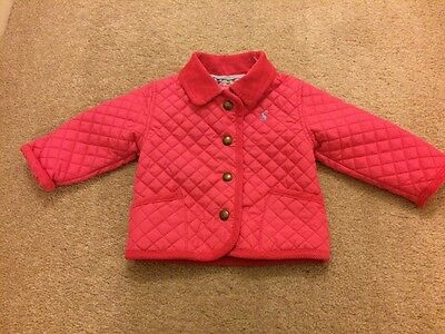 Joules Baby Girl Barber Pink Jacket 3-6 Months