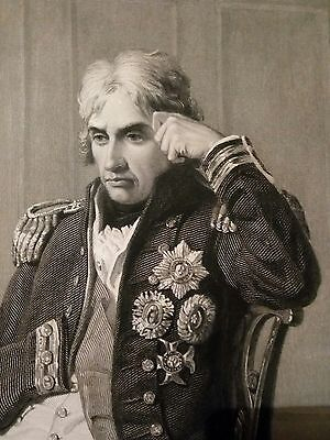 ANTIQUE c1860 ENGRAVING Print VICE ADMIRAL HORATIO LORD NELSON -