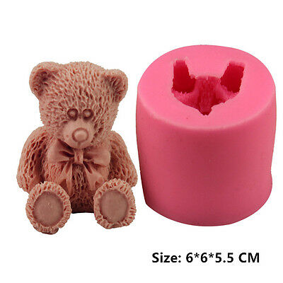 Toy Bear Silicone Cake Mould Fondant Sugar Craft Chocolate Decorate Tool