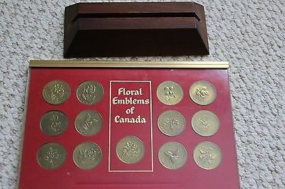 Floral Emblems/Coats of Arms of Canada collectible medal/coin/token set 13