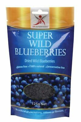 Natural Dried Wild Blueberries 125g - Dr Superfoods