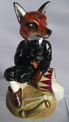 Ashley The Staffordshire Figure Collection Ltd Edition Fox With Drum 107 Of 2500