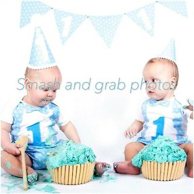 Cake smash outfit for boy, Handmade 1st Birthday Outfit uk