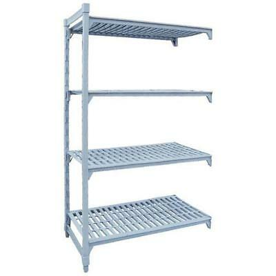 Add-On Shelving Kit with Vented Shelves 4 Tier Poly Coated Steel 1525x455x1800mm