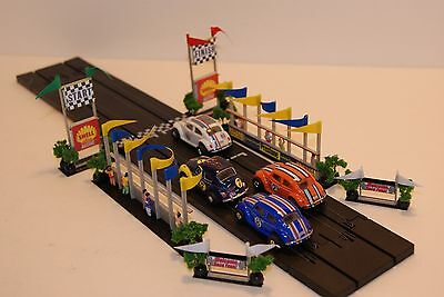 Ho Scale Slot Car Scenery / RACEFAN VIEWPOINTS,START/FINISH PYLONS for AFX,TYCO