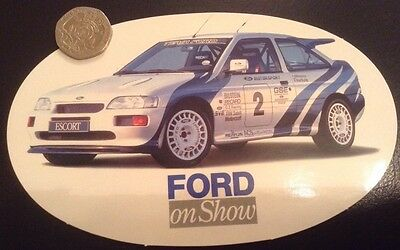 Ford On Show Ford Escort Motorsport Rally Car Sticker