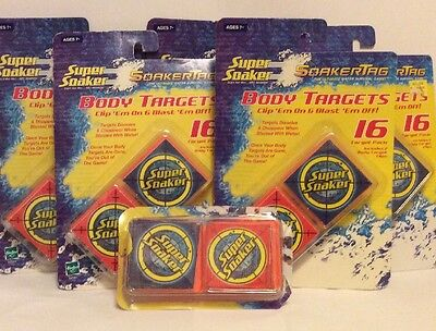 5 Packs Super Soaker Tag Body Targets  52581 - Total of 80 Targets - NEW