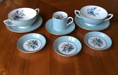 """9 Pieces Royal Worcester In The """"Woodland"""" pattern"""