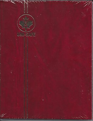 """UniSafe Crystal Clear Burgundy Stockbook 16 Black Pages Clear Strips 6.5"""" x 8.5"""""""
