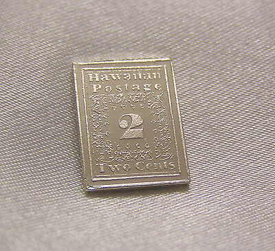 Solid Silver Stamp Hawaii 1851 Two-Cent Missionary