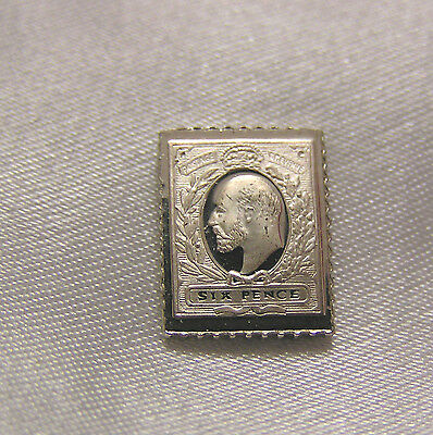 Solid Silver Stamp Great Britain 1904 Six-Pence King Edward Vii I.r