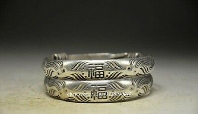Exquisite Chinese Miao Silver Handwork Bracelet Bangle 2