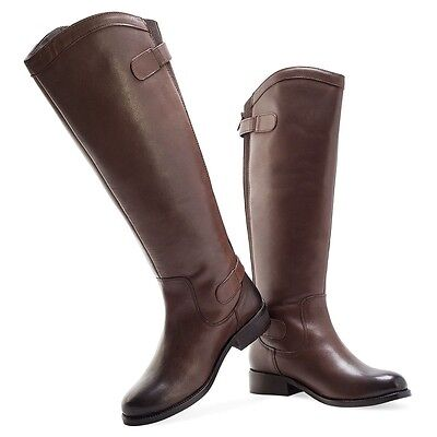 Ladies/Girls Long Leather Riding/show/hunt Boots. Brown. RRP £49.99 On Sale