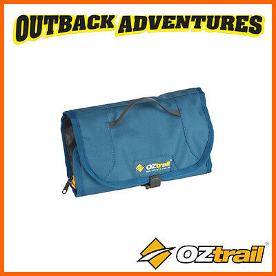 OZtrail TOILETRY ROLL NAVY CAMP TRAVEL STORAGE HANGING BAG