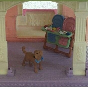 Fisher Price Loving Family doll house pet dog and highchair set